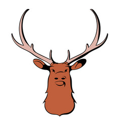 Head of deer icon cartoon vector