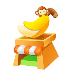 icon banana vector image
