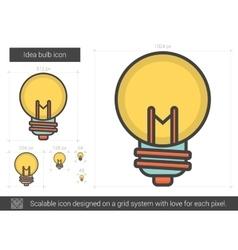 Idea bulb line icon vector