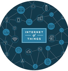 IOT Internet of Things Smart Home Quality Design vector image vector image