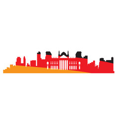 Isolated cityscape of berlin vector