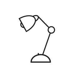lamp for school icon vector image