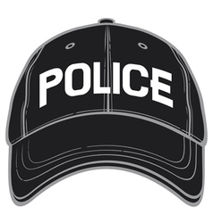 police baseball cap-police hat vector image