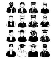Professional people icons set vector image vector image