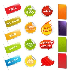 Sale stickers and labels vector