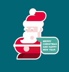 Santa Claus colorful flat vector image vector image