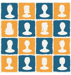 social network tiles vector image