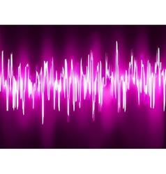 Sound waves oscillating glow light eps 8 vector