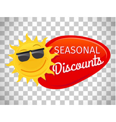 Summer sale label seasonal discount vector
