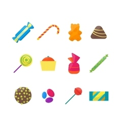 Sweet Candies Icons Set vector image vector image