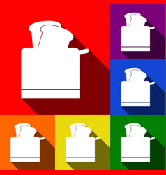 Toaster simple sign set of icons with vector
