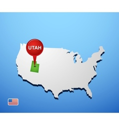 Utah vector image vector image