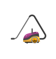 vacuum cleaner icon isolated on white electrical vector image vector image