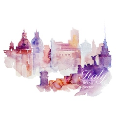 Watercolor Italy Rome vector image