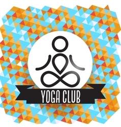Yoga club concept vector