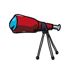 Telescope icon science and space design vector