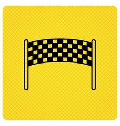 Finishing checkpoint icon marathon banner sign vector