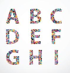 Alphabet Circle color point style set vector image