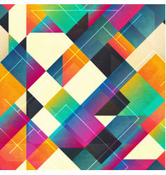 Bright squares seamless pattern vector