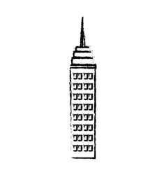 Skyscraper building antenna roof commercial vector