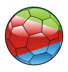 Eritrea flag on soccer ball vector