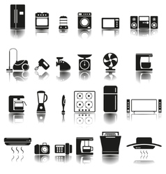 24 icons of home appliances vector