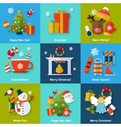 Winter concept set vector