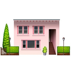 A pink office building vector