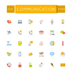 Flat communication icons vector