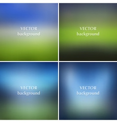 Blurred soccer football stadiums backgrounds set vector