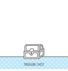 Treasure chest icon piratic treasury sign vector