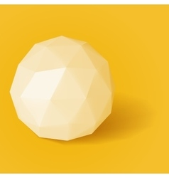 Triangle sphere on yellow background vector