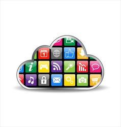 Cloud computing with apps vector
