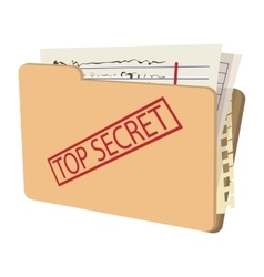 Top secret package cartoon icon vector