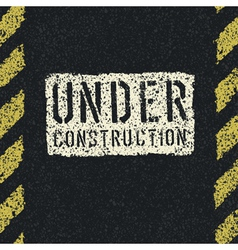 Under construction sign background vector