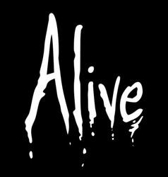 Alive symbol vector