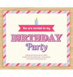Birthday party invitation card vector