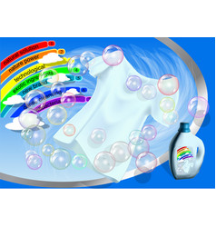 Clothes and washing product vector