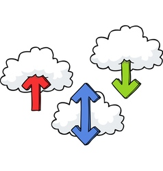 Clouds with arrows set vector