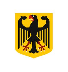Coat of arms of germany icon flat style vector