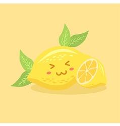 Cute Lemon Fruit vector image