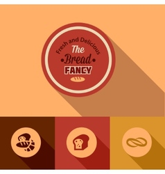 flat bread design elements vector image vector image
