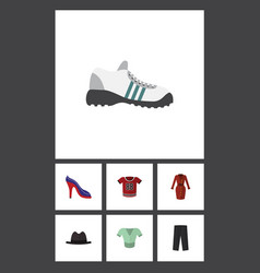 Flat icon garment set of clothes t-shirt vector