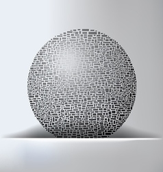 Globe Abstract Background vector image vector image