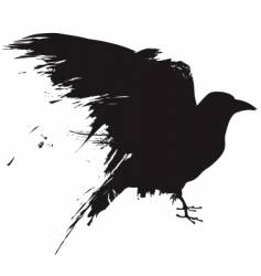 grunge birds vector image
