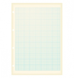 grunge graph paper vector image
