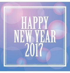 happy new year 2017 greeting card with lights vector image