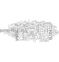 Is your teen an entrepreneur text background word vector