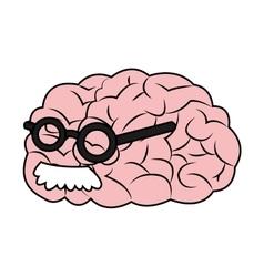 Isolated brain cartoon design vector