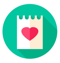 Love letter circle icon vector